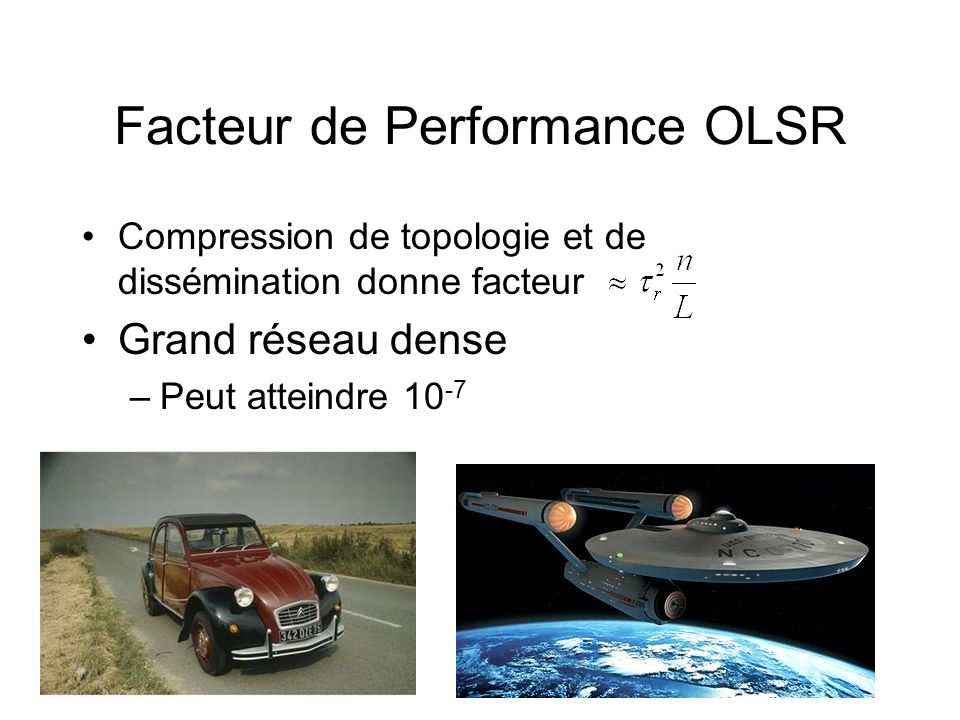 Facteur de Performance OLSR