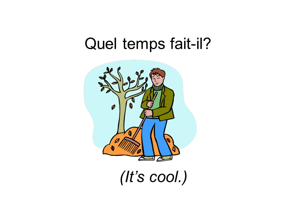 Quel temps fait-il (It's cool.)