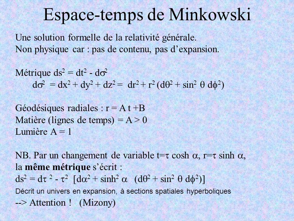 Espace-temps de Minkowski