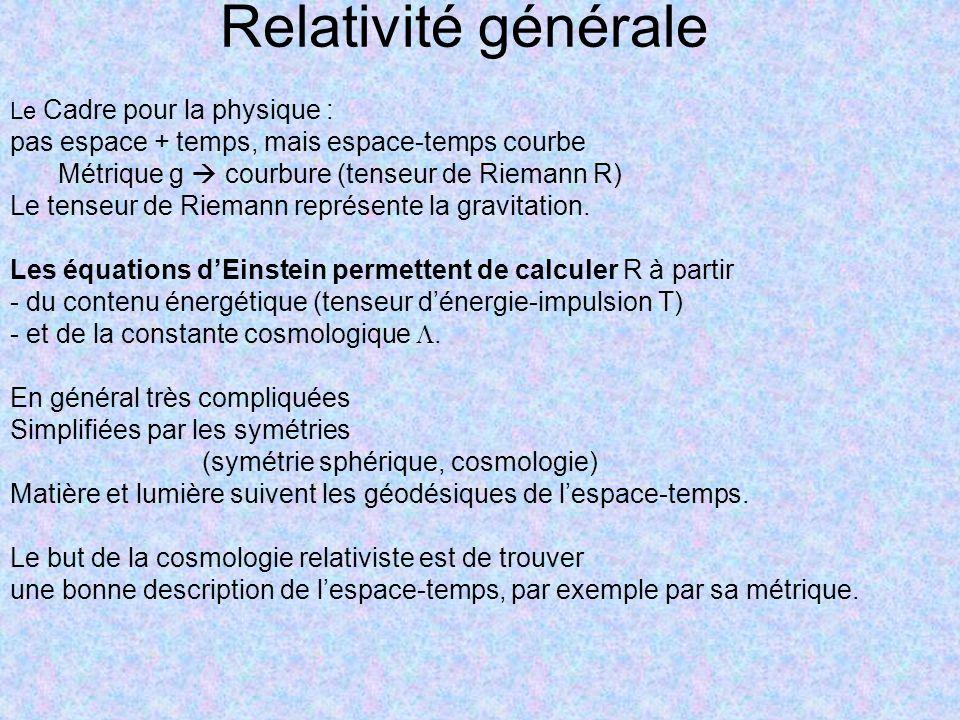 Relativité générale pas espace + temps, mais espace-temps courbe