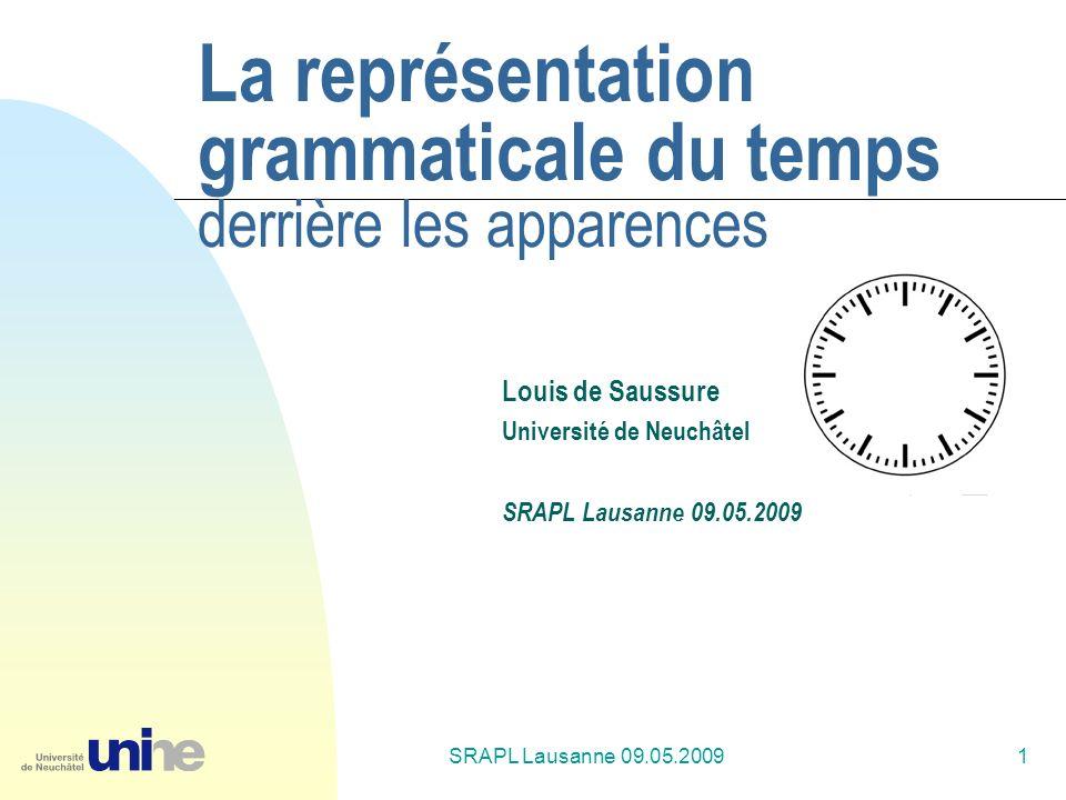 La représentation grammaticale du temps derrière les apparences