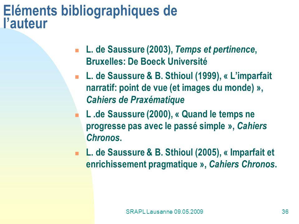 Eléments bibliographiques de l'auteur
