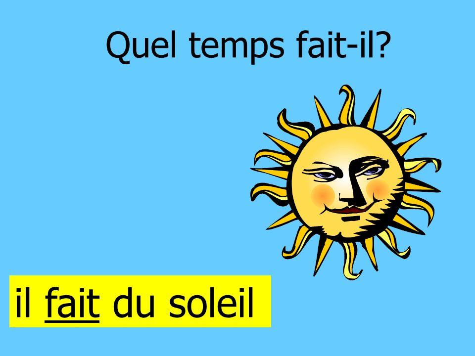 Quel temps fait-il il fait du soleil