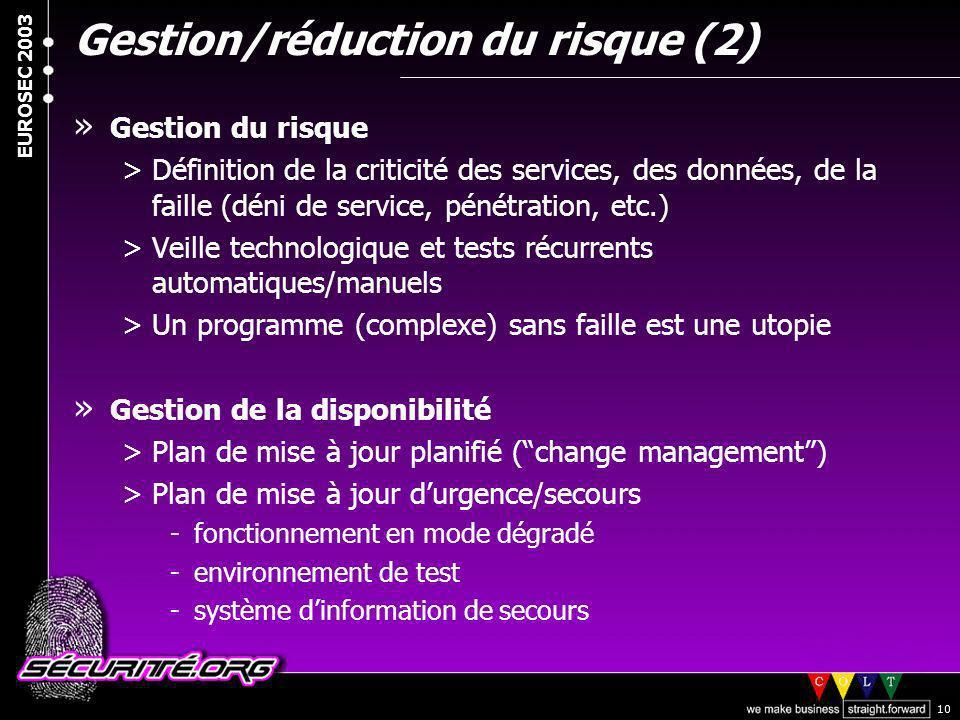 Gestion/réduction du risque (2)