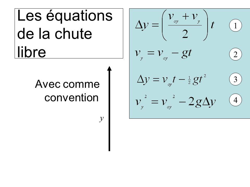 Les équations de la chute libre