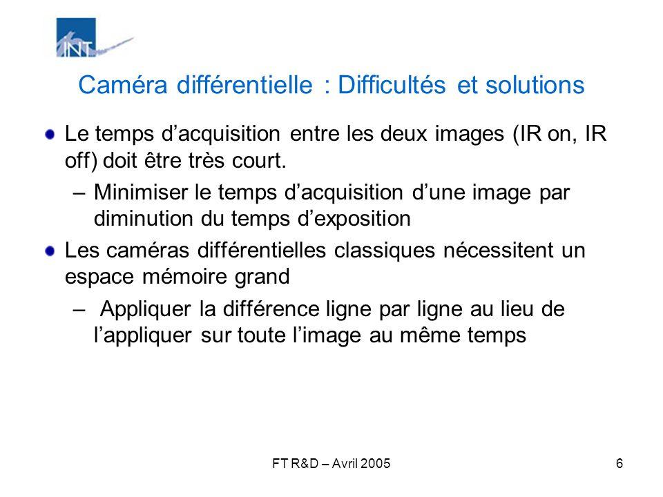 Caméra différentielle : Difficultés et solutions