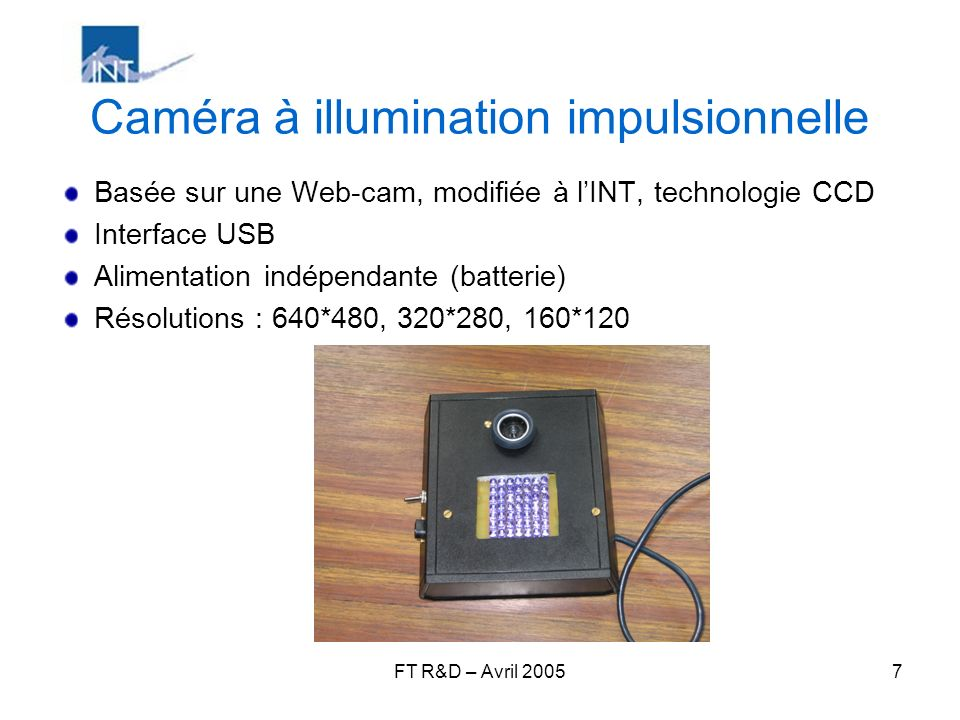 Caméra à illumination impulsionnelle