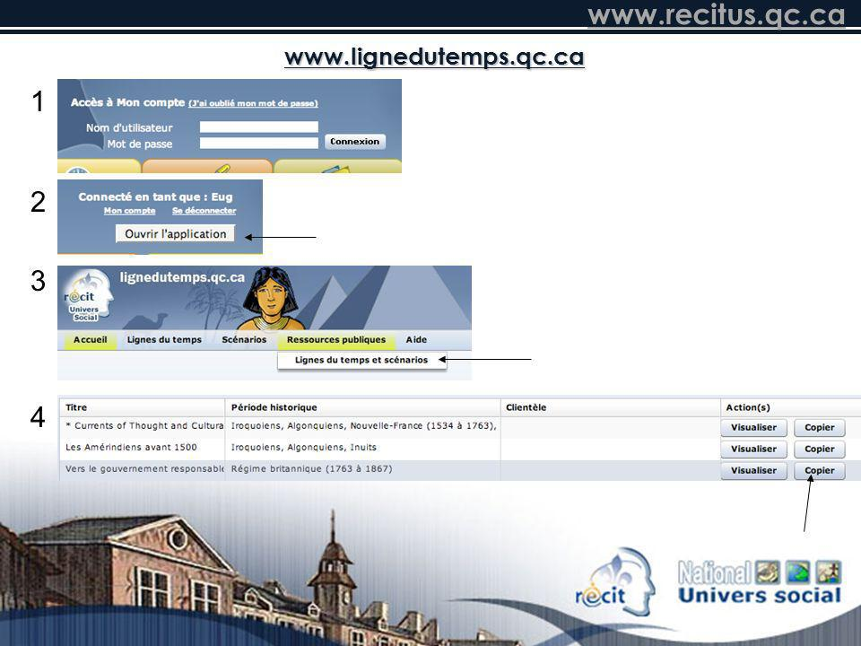 www.lignedutemps.qc.ca 1 2 3 4