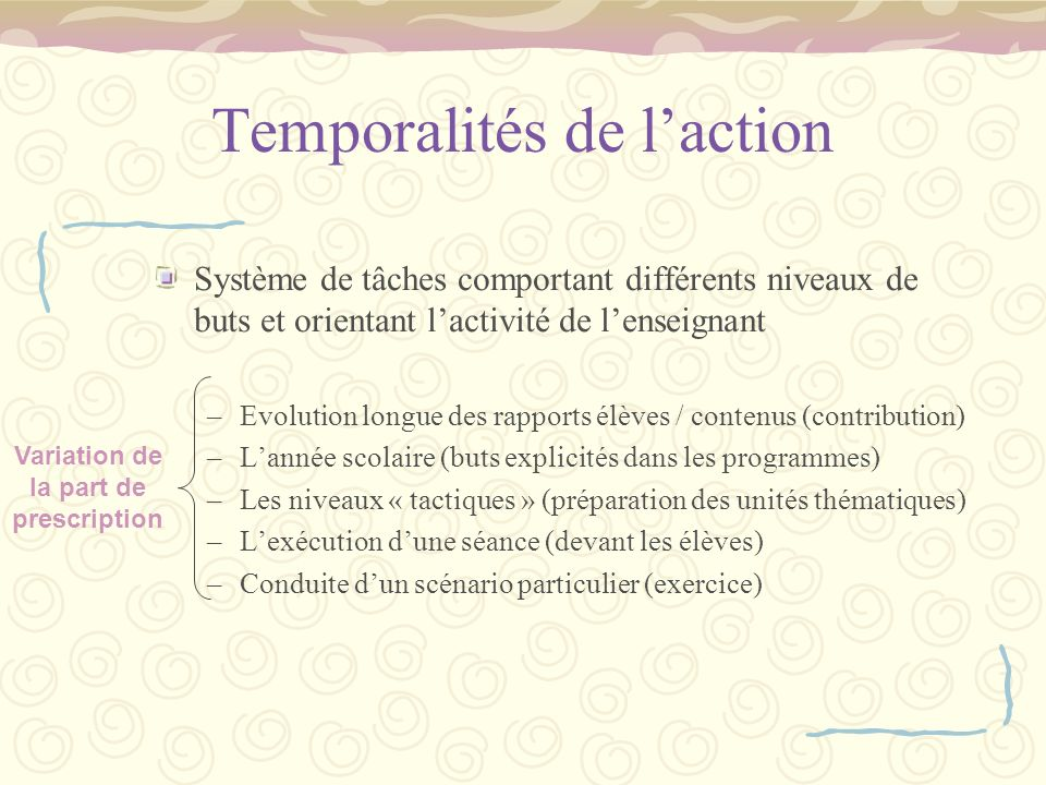 Temporalités de l'action