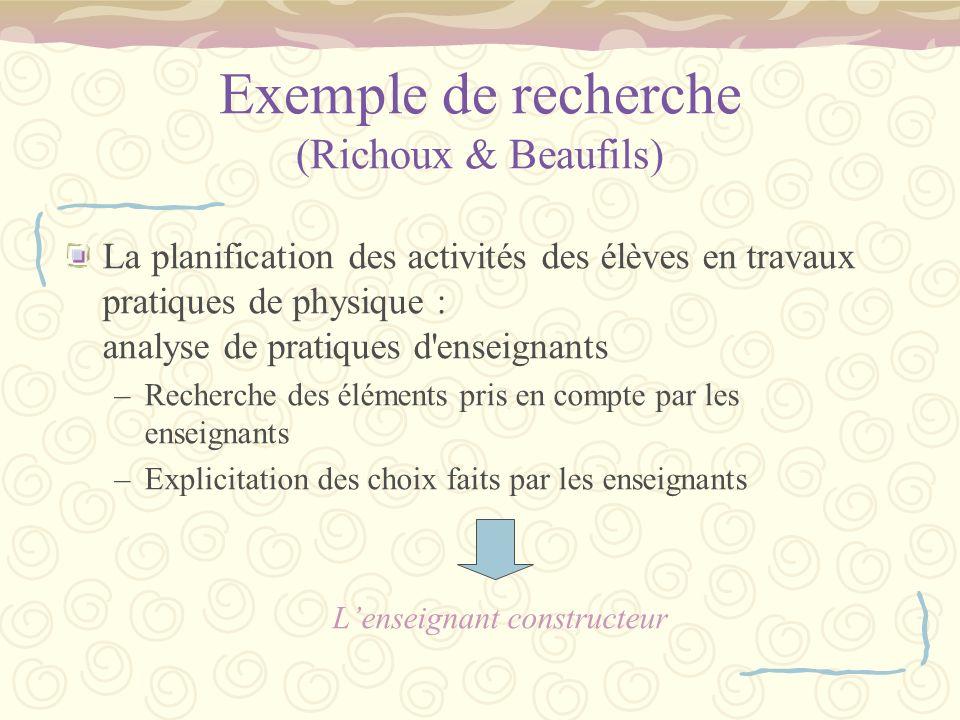 Exemple de recherche (Richoux & Beaufils)