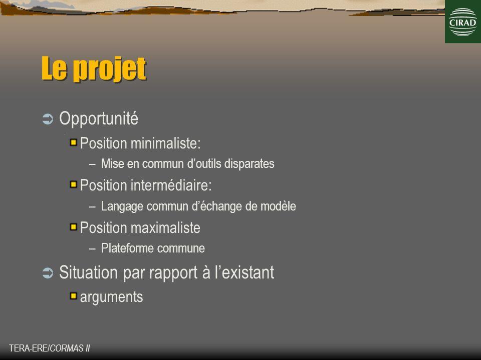 Le projet Opportunité Situation par rapport à l'existant