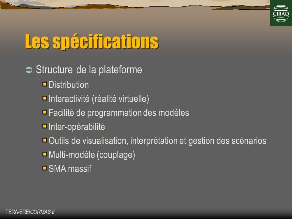Les spécifications Structure de la plateforme Distribution