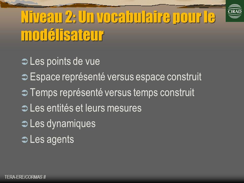 Niveau 2: Un vocabulaire pour le modélisateur
