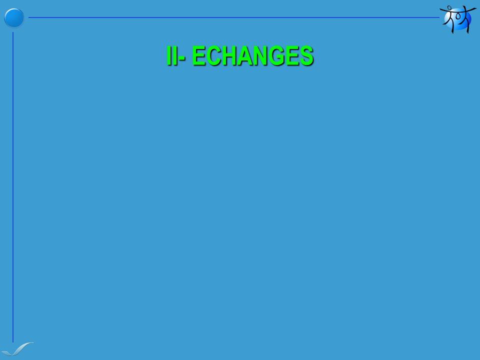II- ECHANGES