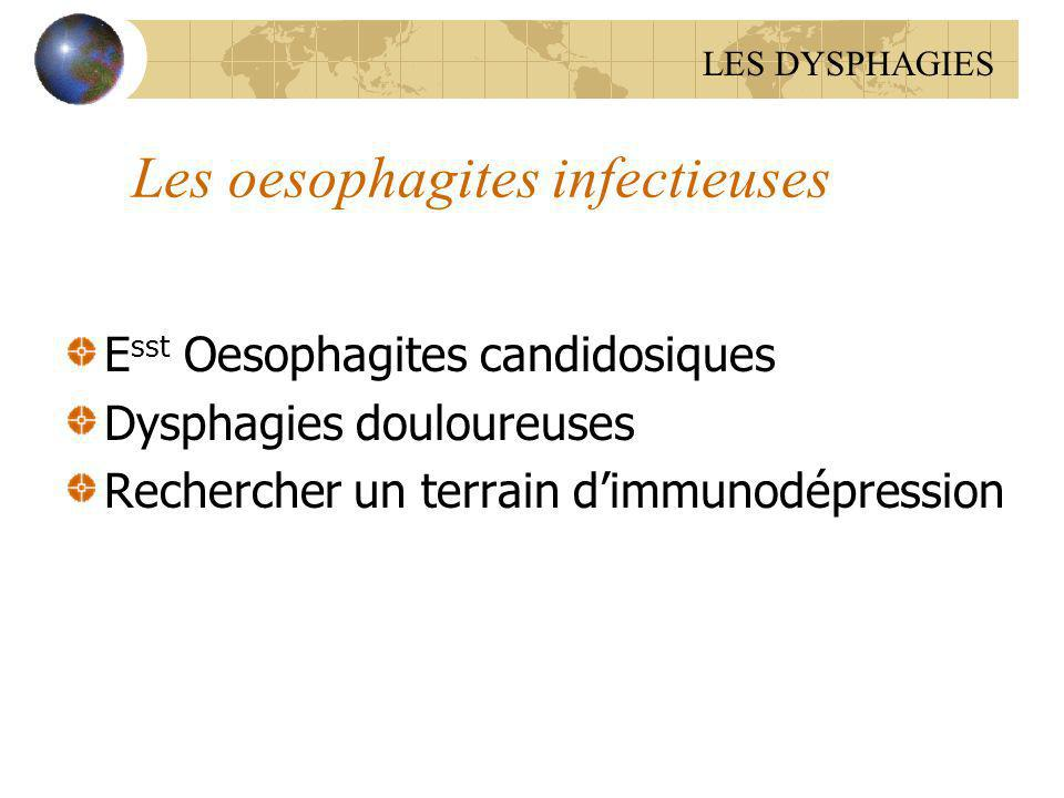 Les oesophagites infectieuses