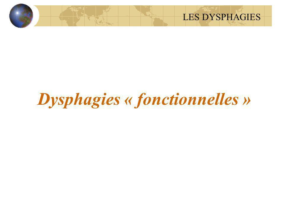 Dysphagies « fonctionnelles »