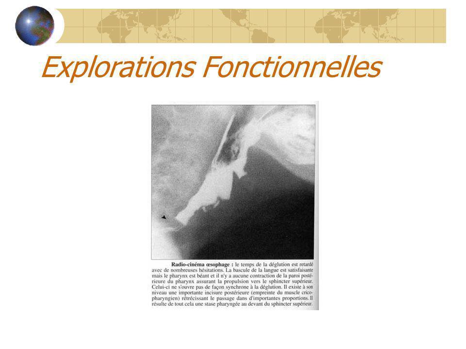 Explorations Fonctionnelles