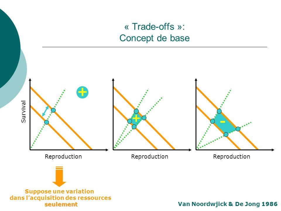 « Trade-offs »: Concept de base