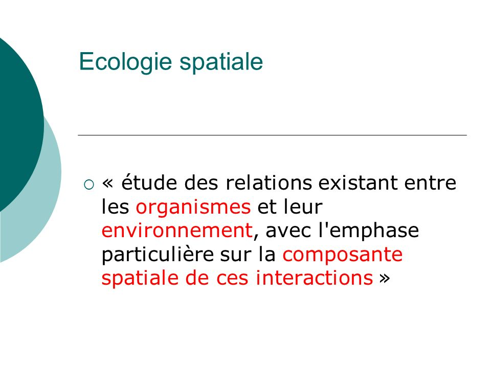 Ecologie spatiale
