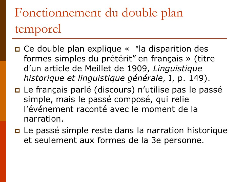 Fonctionnement du double plan temporel
