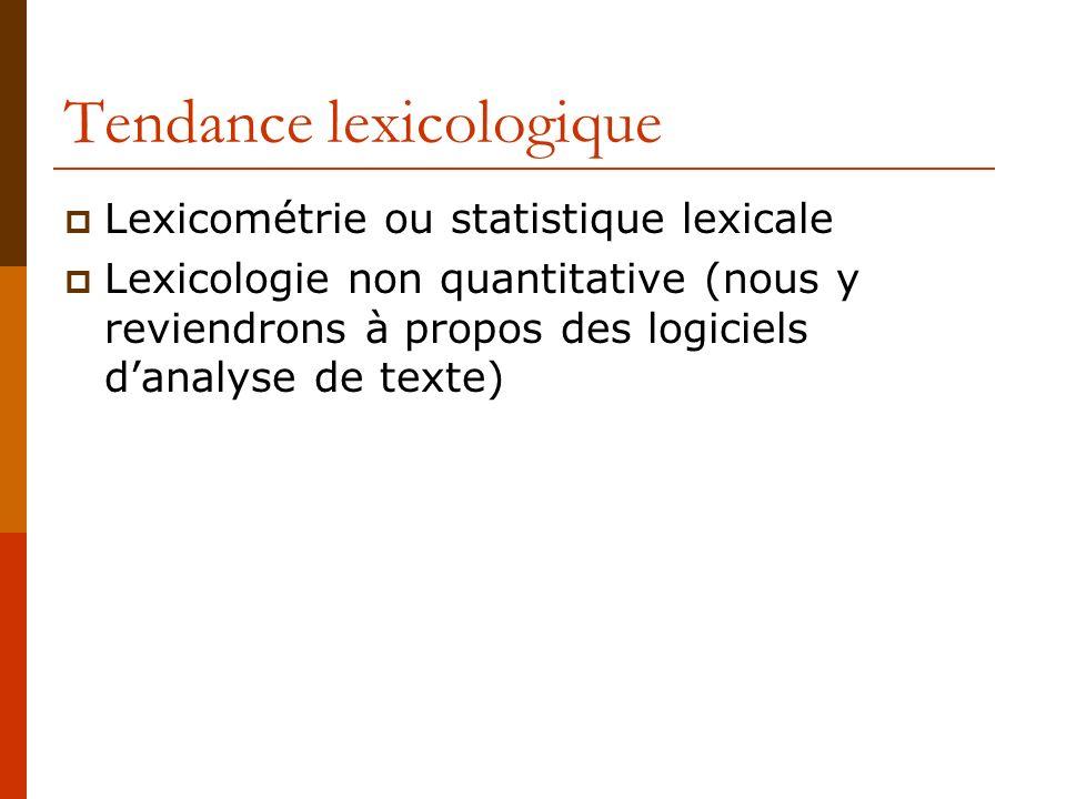 Tendance lexicologique