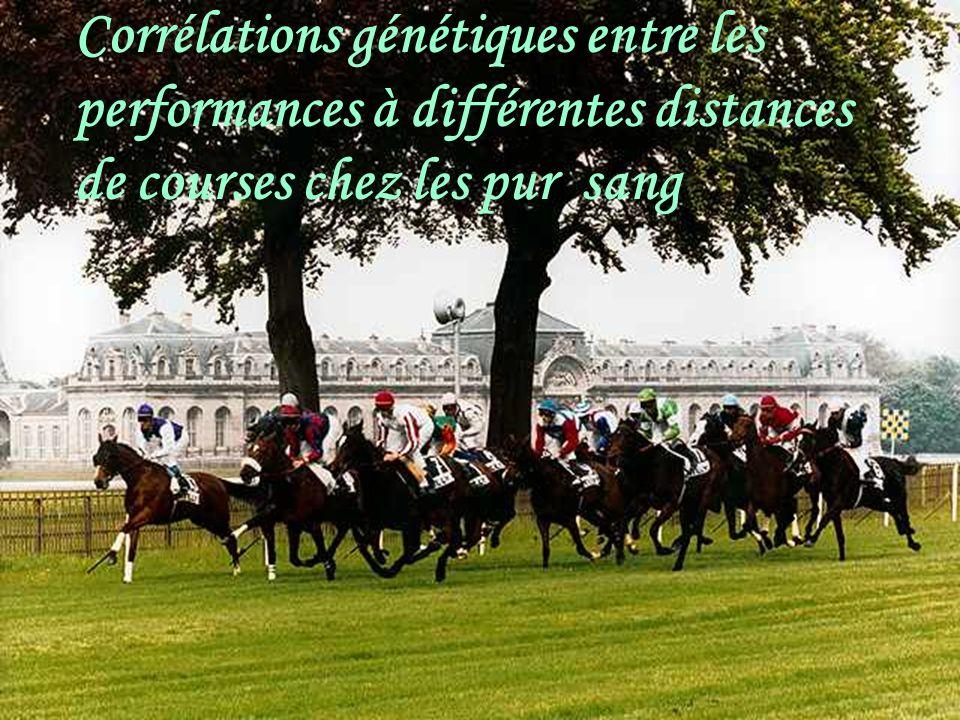 Corrélations génétiques entre les performances à différentes distances de courses chez les pur sang