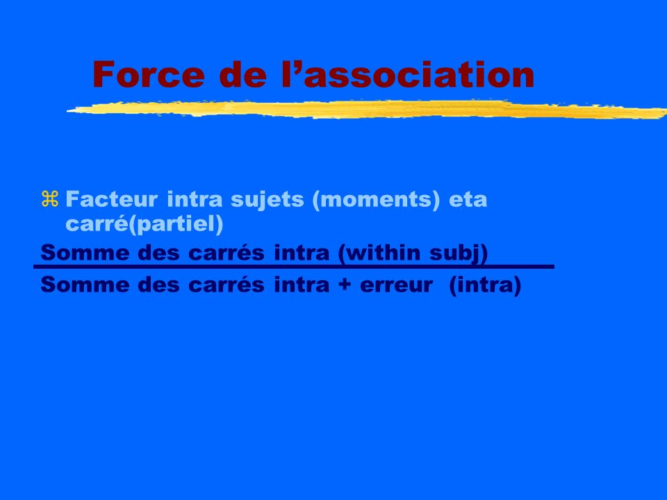 Force de l'association