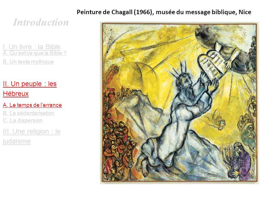 Peinture de Chagall (1966), musée du message biblique, Nice
