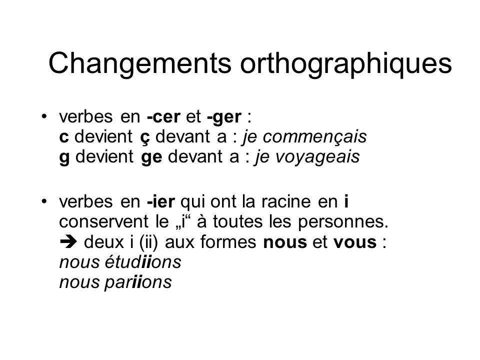 Changements orthographiques