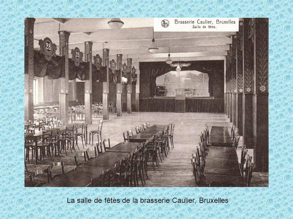 La salle de fêtes de la brasserie Caulier, Bruxelles