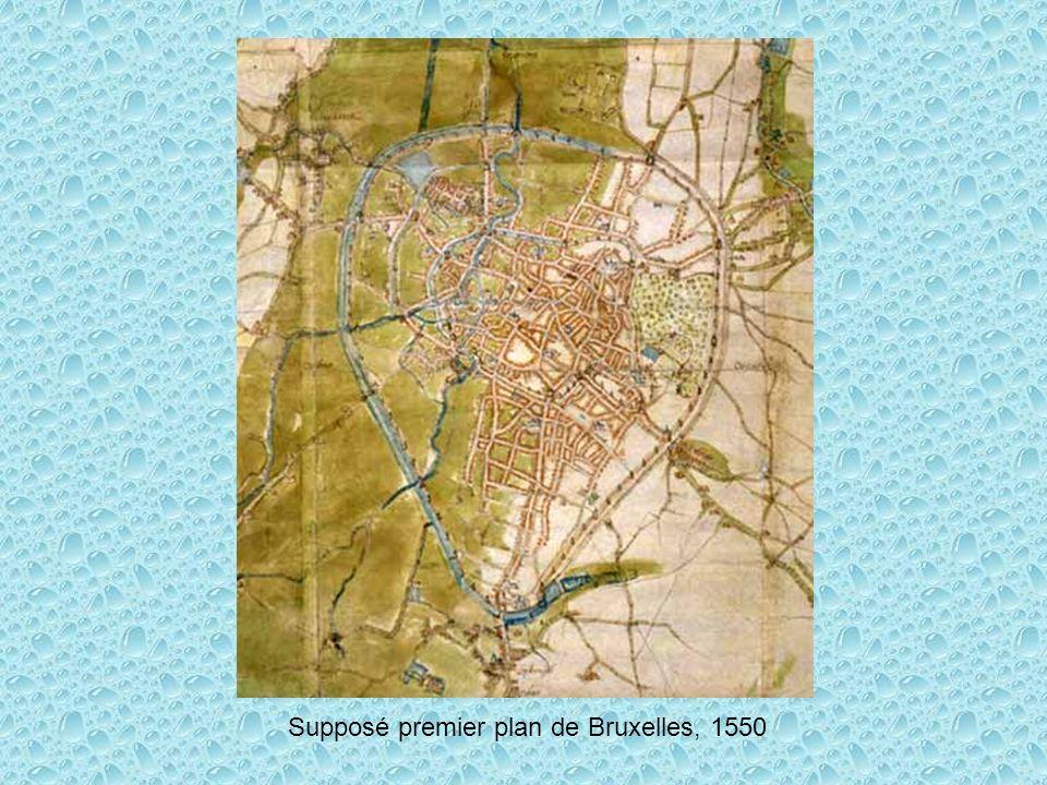 Supposé premier plan de Bruxelles, 1550