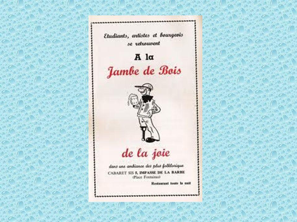 Affichette « A la Jambe de Bois »