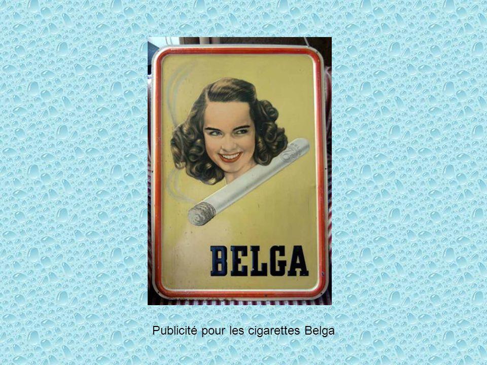 Publicité pour les cigarettes Belga