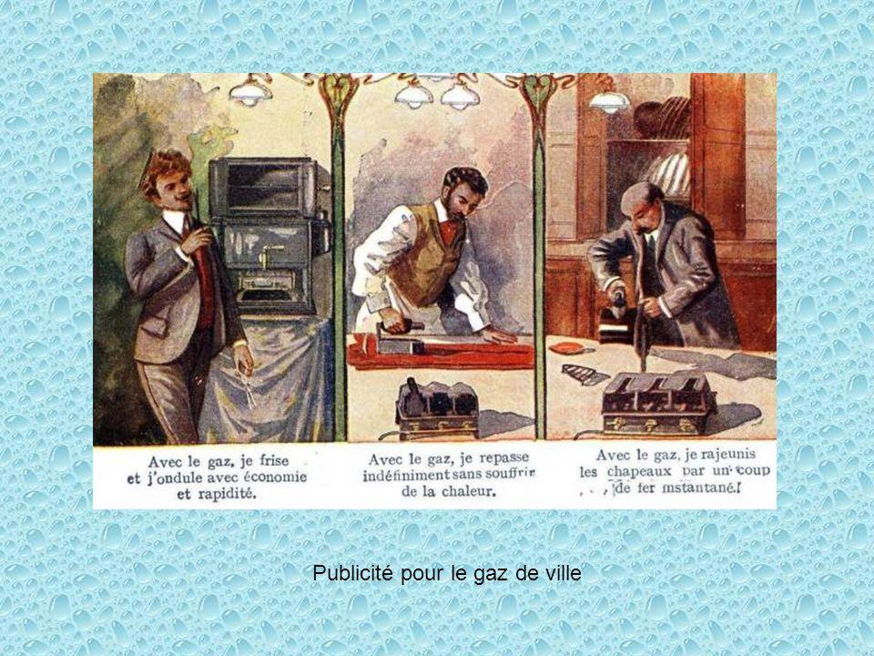 Publicité pour le gaz de ville