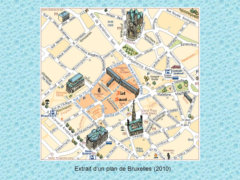 Extrait d'un plan de Bruxelles (2010)
