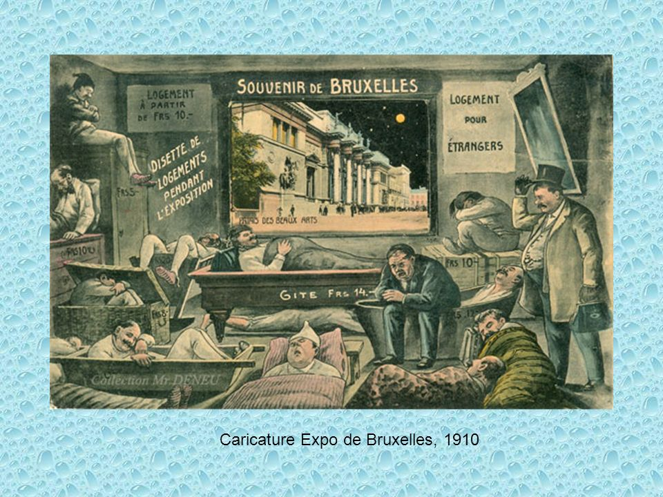 Caricature Expo de Bruxelles, 1910