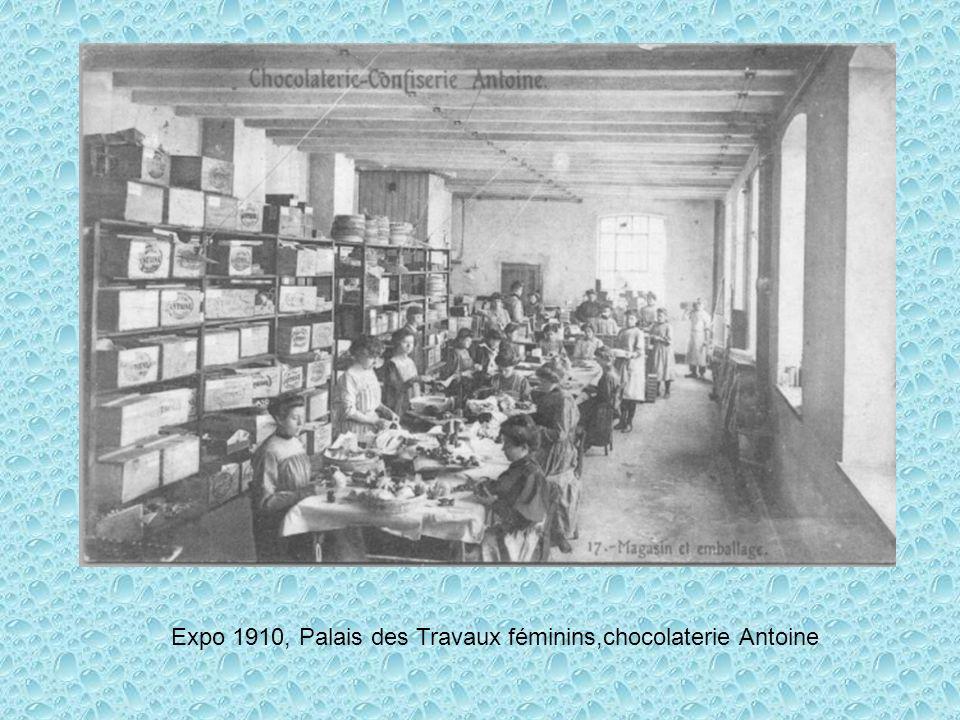 Expo 1910, Palais des Travaux féminins,chocolaterie Antoine