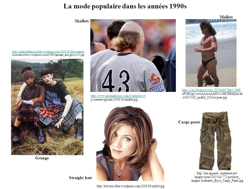 La mode populaire dans les années 1990s