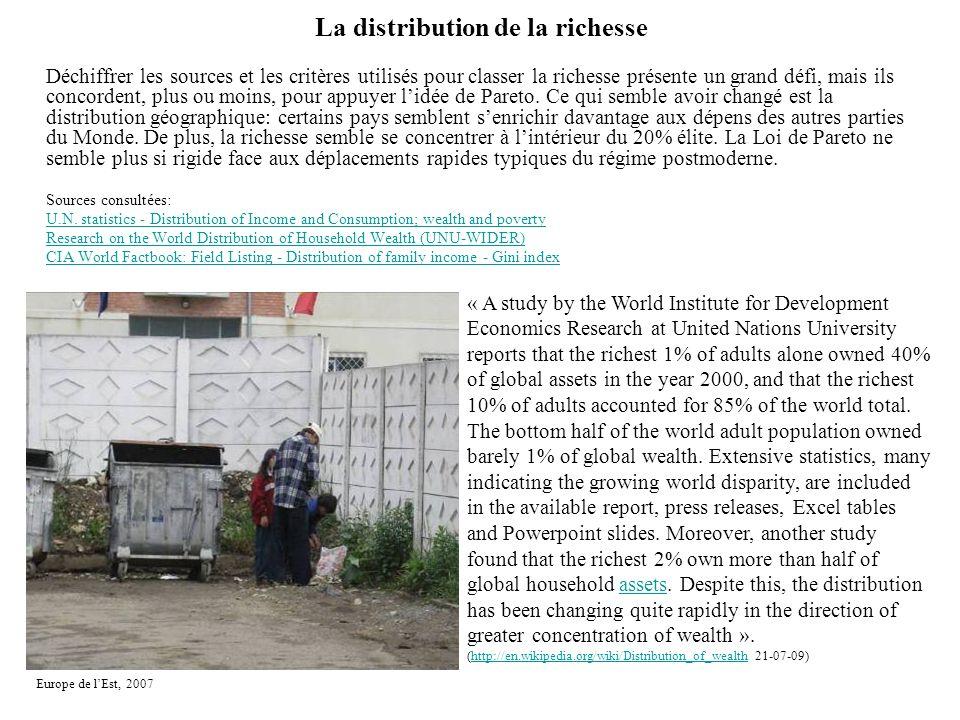 La distribution de la richesse