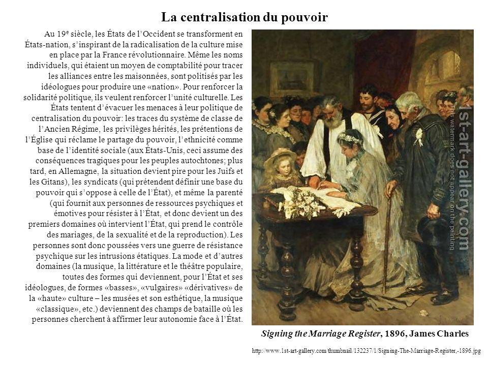 La centralisation du pouvoir