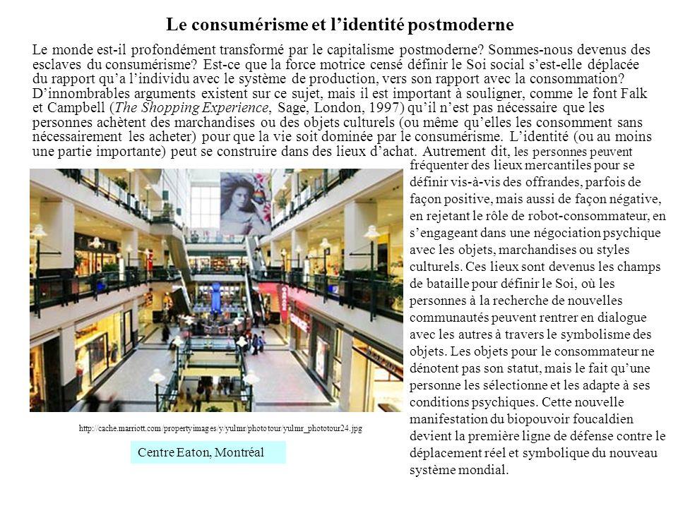 Le consumérisme et l'identité postmoderne