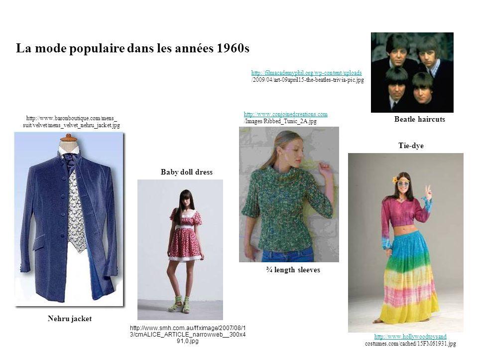 La mode populaire dans les années 1960s