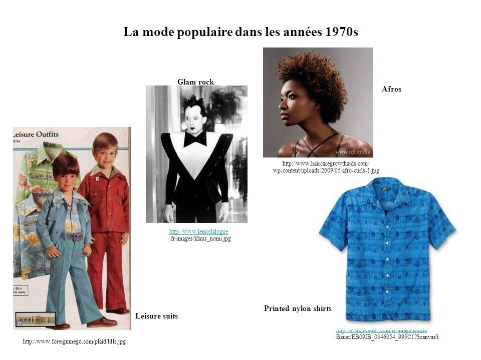 La mode populaire dans les années 1970s