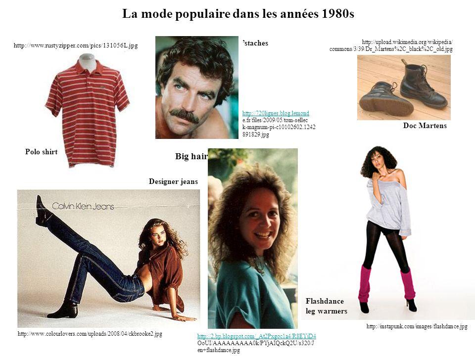 La mode populaire dans les années 1980s