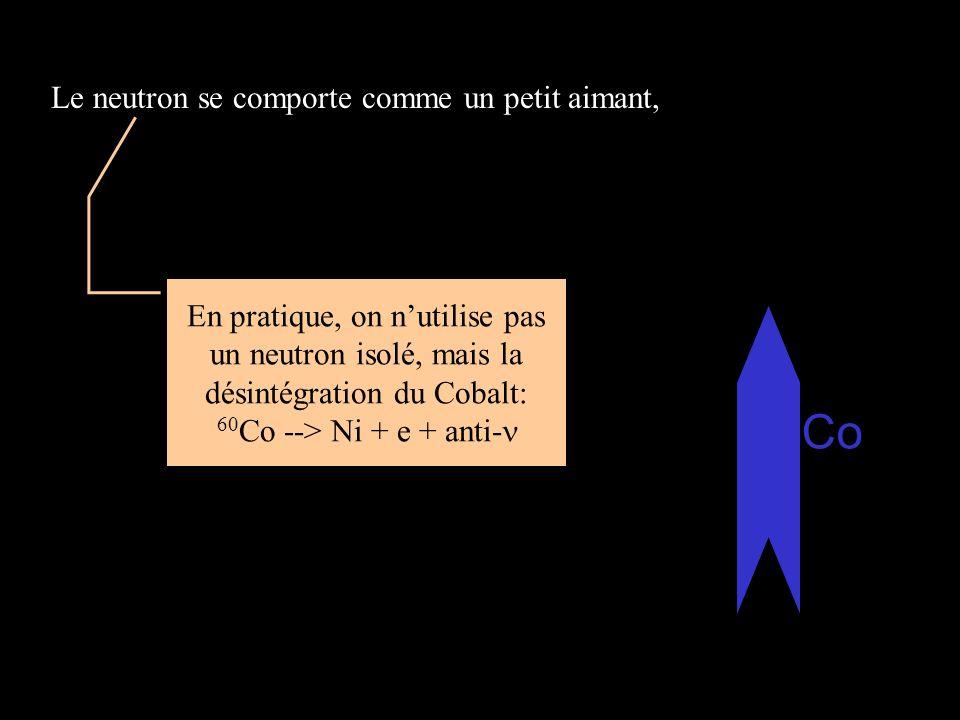 Le neutron se comporte comme un petit aimant,