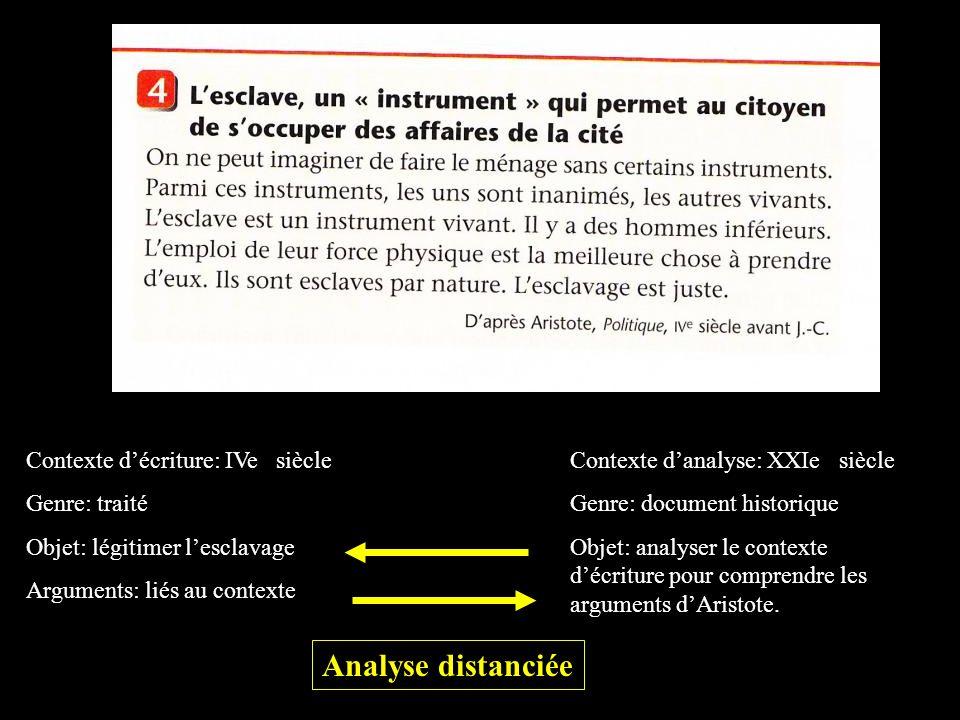 Analyse distanciée Contexte d'écriture: IVe siècle Genre: traité