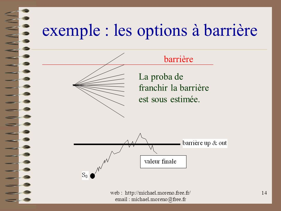 exemple : les options à barrière
