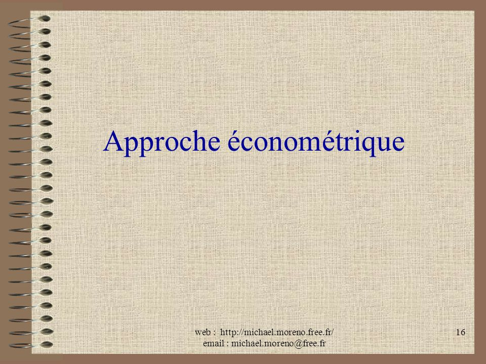 Approche économétrique