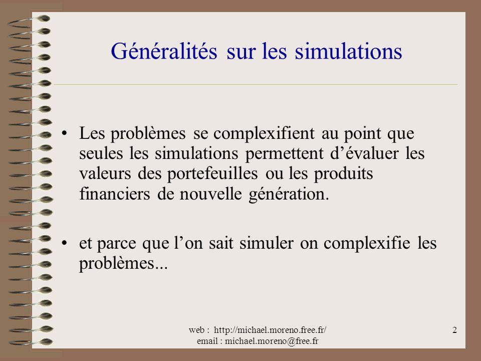 Généralités sur les simulations