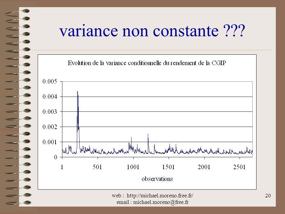 variance non constante